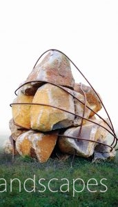 Rock sculpture in a paddock in Trentham